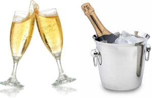 Bottle of champage to celebrate 1 year of Bath WI