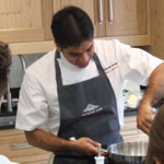 Hrishnikesh Desai demonstrates cookery
