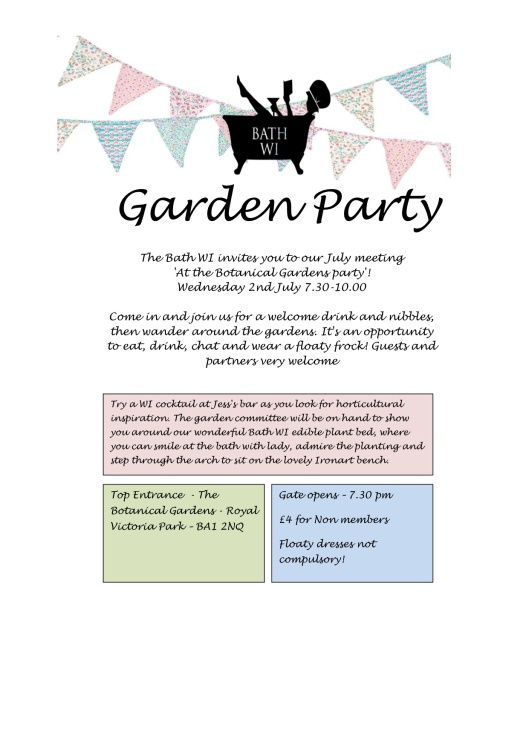 WI invitation to Garden party
