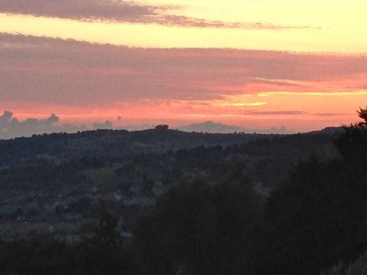 Amazing sunset views from Sham Castle